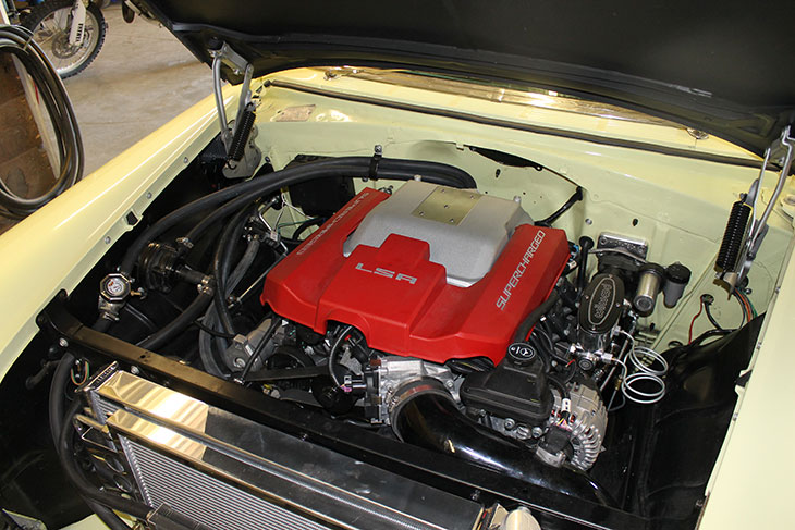 1956 Chevy with a GM LSA Supercharged Engine