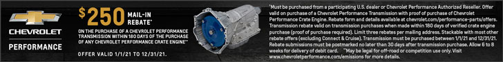 Chevrolet Performance Transmission Rebate - Complete Your Perfect Build