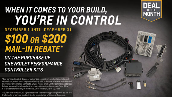 Rebate on GM Performance and Chevrolet Performance Controller Kits