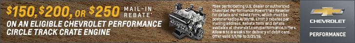 Circle Track Rebate at Chevrolet Performance and GM Performance Motors