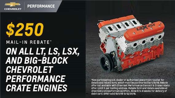 Big Block Engine Rebate on GM and Chevrolet Performance Engines